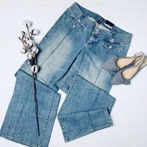 Lane Bryant Vintage Wash Flare Jeans